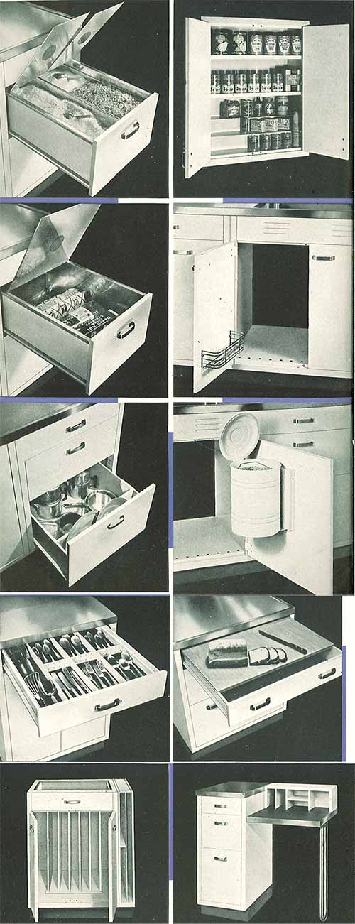 retro kitchen island whitehead steel kitchen cabinets 20 page catalog from 1937