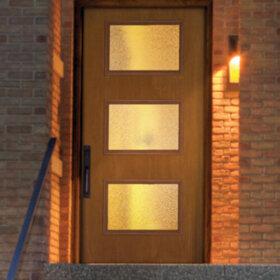 mid century entry door