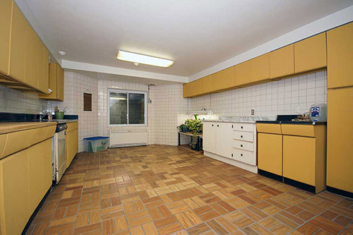 vintage-steel-cabinets-gold-in-basement-kitchen