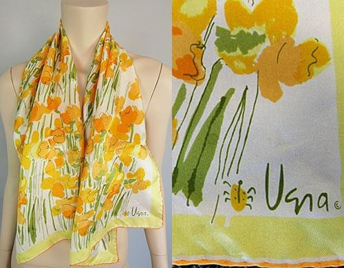 vintage-vera-scarf-flowers-orange-and-yellow
