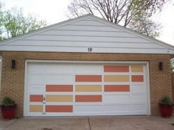 Mid-century-garage-door-painted