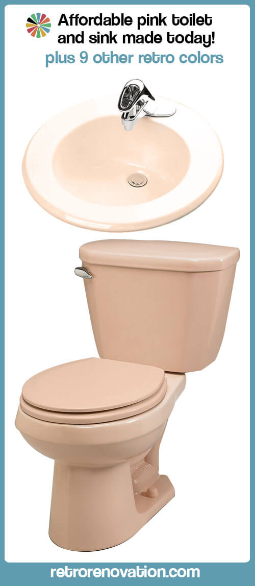 toilets amp sinks in 10 retro colors from gerber retro 12375