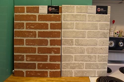 Interior brick veneer made from real bricks from - Fake brick wall covering interior ...