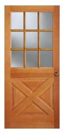 crossbuck door & Colonial style front doors for mid century houses - Five styles ...