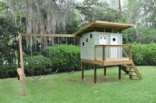 mid century modern chicken coop retro playhouse - Mid Century Modern Home Exterior