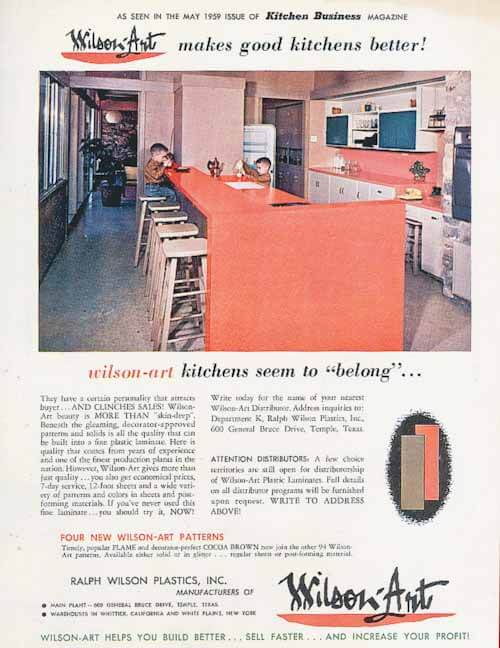 wilsonart ad 1959