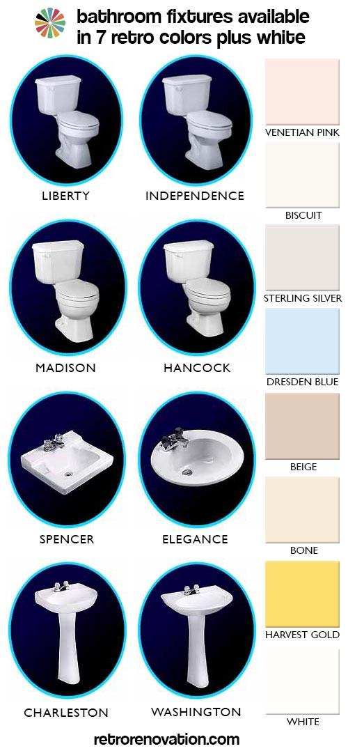 Bathroom Fixtures Colors bathroom fixtures in 7 retro colors from peerless, plus, we