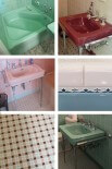 6 colorful 1950 vintage bathrooms — The Comer House in Gallatin, Tenn.