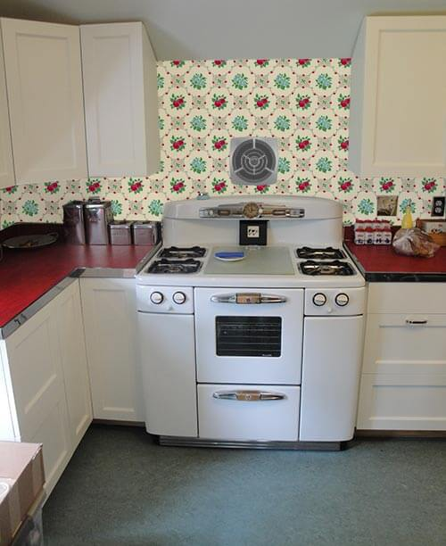 wallpaper the backsplash? deb wants our help with her retro design