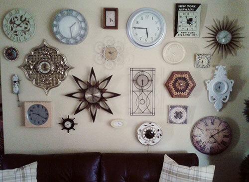 vintage clock-wall