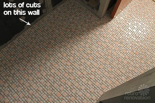 Kate Installs Her Affordable Retro Bathroom Floor Tile