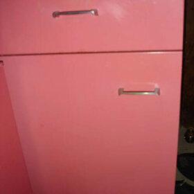 raspberry kitchen cabinet