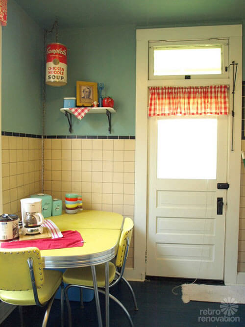 retro vintage laundry room