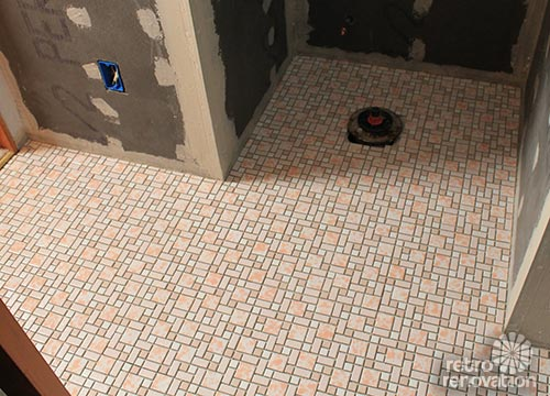 Retro Mosaic Tile Floor