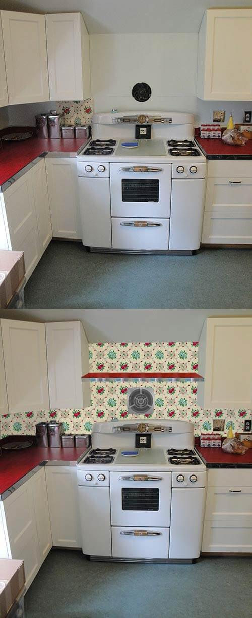 Wallpaper the backsplash? Deb wants our help with her Retro Design ...