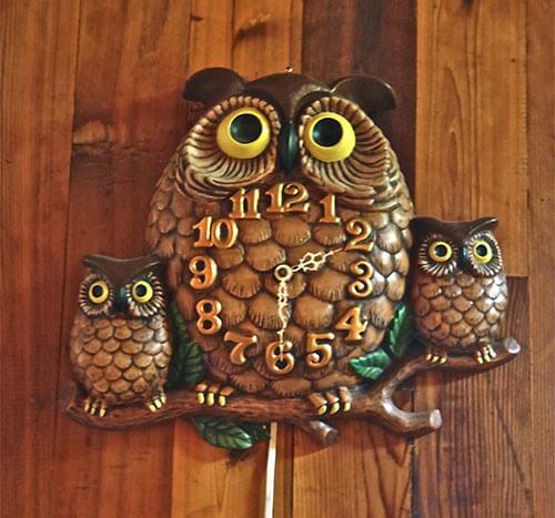 vintage-owl-clock-1970