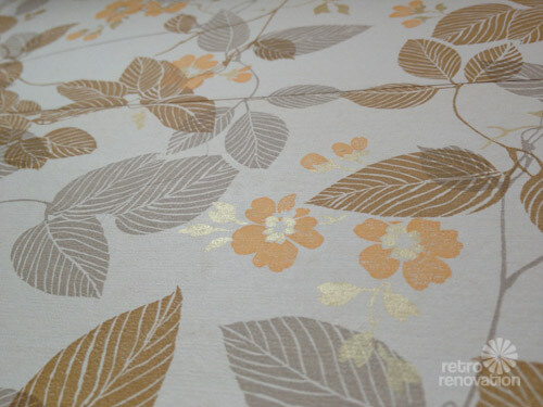 vintage wallpaper yellow brown grey gold