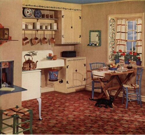 retro kitchen floor armstrong 5352 embossed inlaid linoleum the most popular 1935