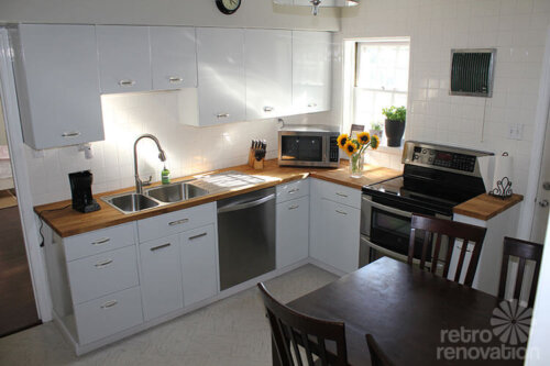 Vintage Geneva kitchen cabinets made retro fresh again in this remodel