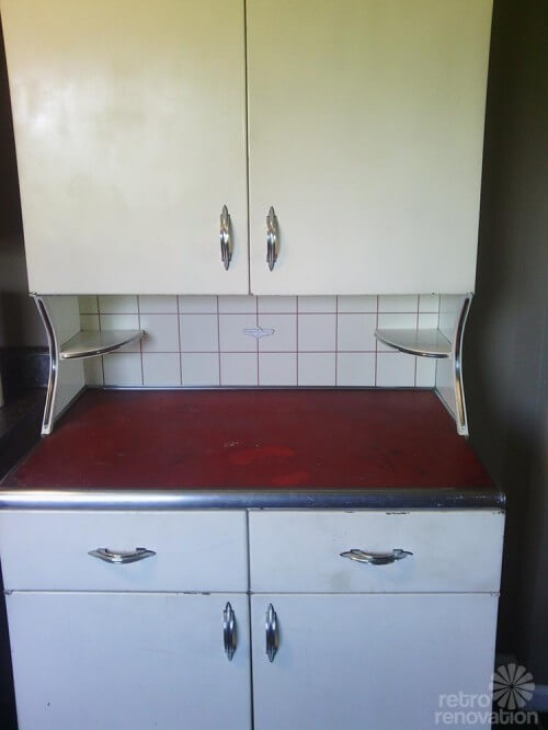 Youngstown-cabinet - Rare Vintage Youngstown Kitchens Metal Hutch - Retro Renovation