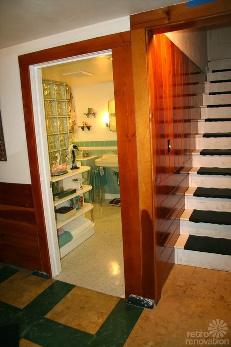 retro basement bathroom