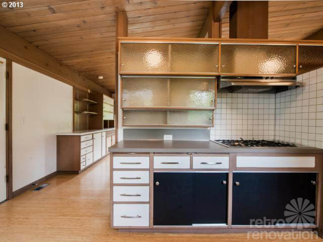 Midcentury modern time capsule house in portland oregon retro renovation - Modern vintage kitchen ...