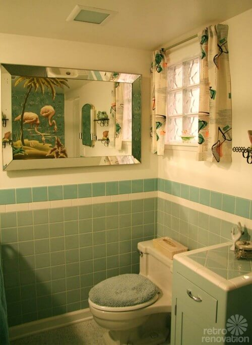 Part Tiled Bathroom