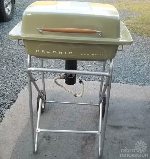 vintage-caloric-grill-green