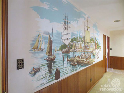 Where to find vintage and vintage style wallpaper murals for Colonial mural wallpaper