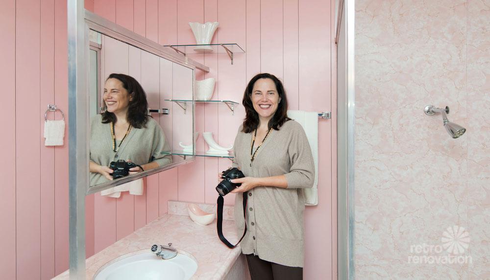 pam kueber pink bathroom