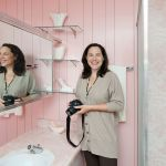 pam kueber at wilson house pink bathroom