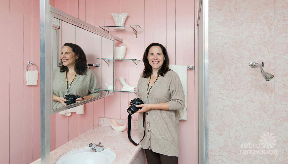 pam kueber at wilson house pink bathroom