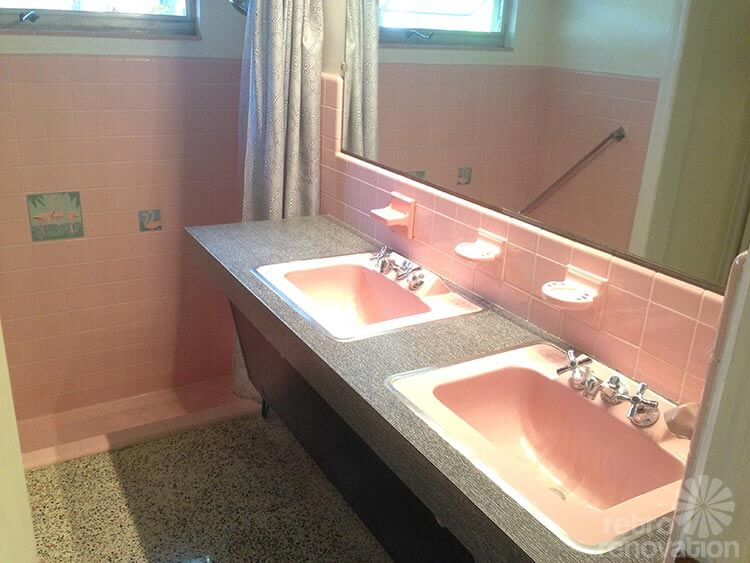 Ideas To Tone Down The Sea Of Pink In Gus Pink Bathroom