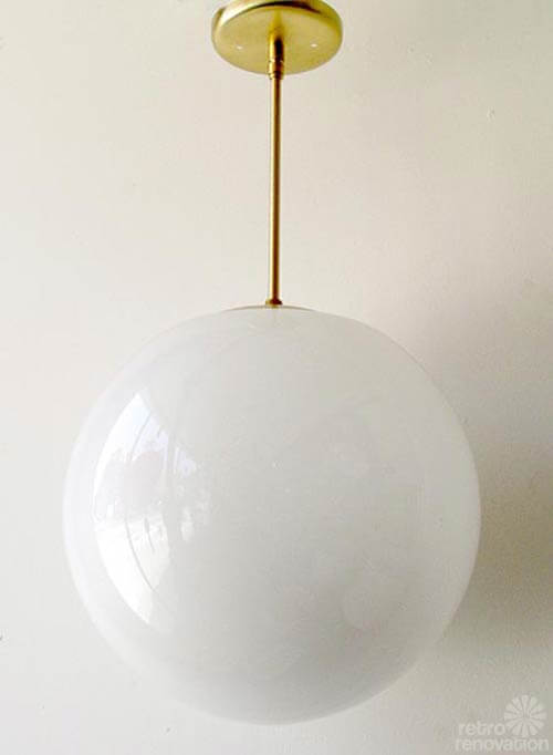 Mid century modern outdoor globe lighting lighting ideas for Mid century modern globe pendant light