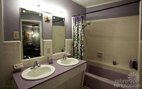 Sarah S Lavender Purple Bathroom Restoration Including