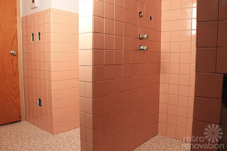 B W Pink Bathroom Wall Tiles