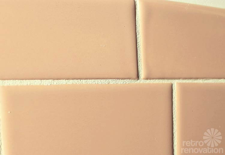Video Kate Grouts Her Pink Ceramic Wall Tiles Retro Renovation