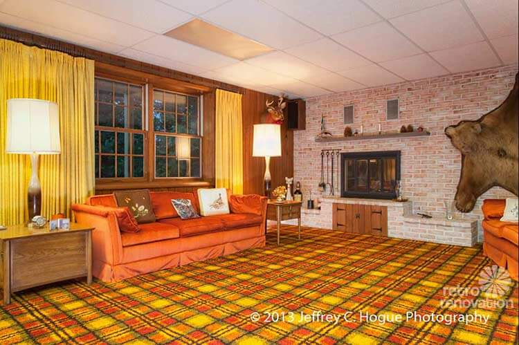 Forever plaid a 1978 pennsylvania time capsule house retro renovation - Home decorators carpet paint ...