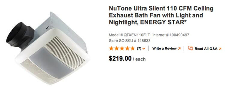 NuTone Bath Fan