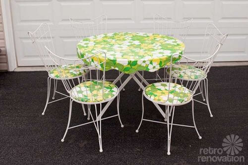 16 piece vintage Homecrest patio set all original magically delicious Re