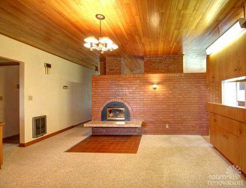 mid-century-brick-fireplace