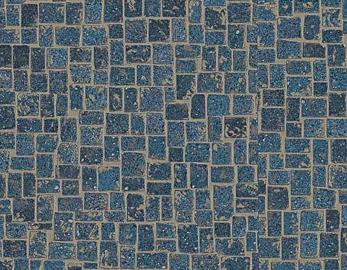 retro vinyl flooring for sale installs karndean s blue michelangelo mosaic vinyl 7783