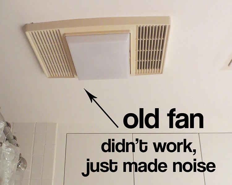 replace bathroom fan. old bath fan My bathroom exhaust didn t work  and I find out why Retro