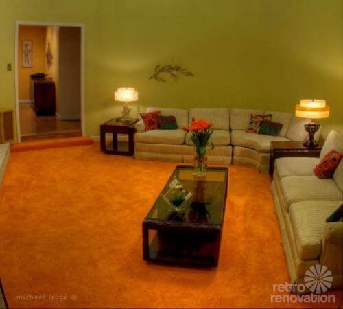 orange shag carpet