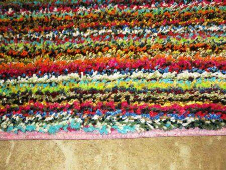 multicolor shag carpet from sansom