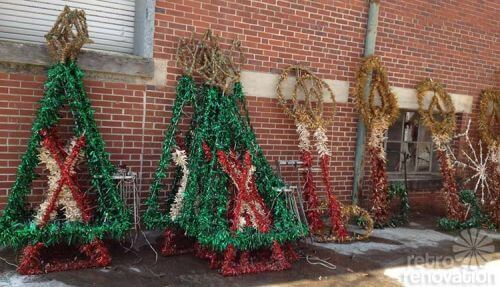 vintage downtown christmas decorations - Christmas Pole Decorations