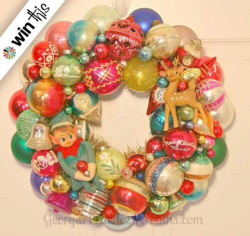 vintage ornament wreath - Vintage Shiny Brite Christmas Ornaments