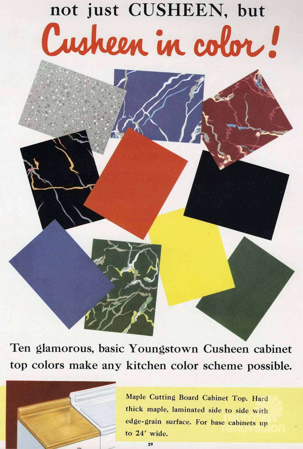 cusheen vinyl counter tops a 1950s option for youngstown kitchens
