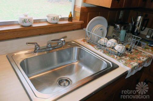 mid-century-stainless-steel-kitchen-sink