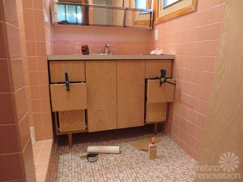 Kate Builds A Mid Century Modern Bathroom Vanity Total